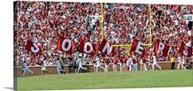 OU Photograph Sooner Flags Panorama
