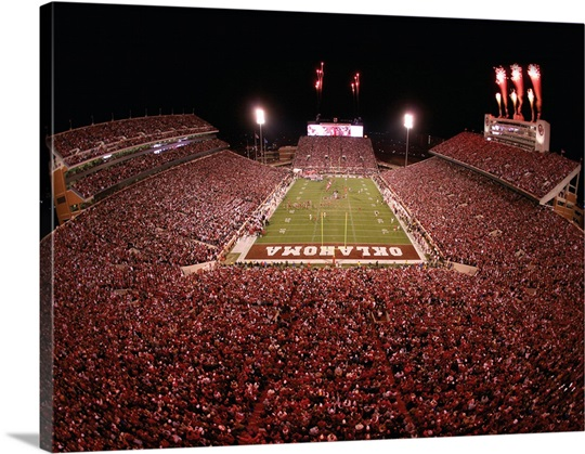 OU Picture The Sooners Take the Field