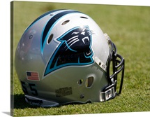 Panthers Football Helmet Sits at Bank of America Stadium