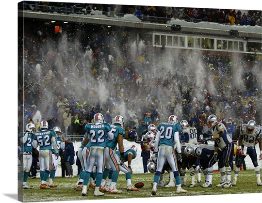 Patriot Fans Throw Snow at Gillette Stadium