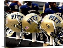 Pitt Helmets Awaiting Action