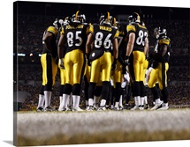 Pittsburgh Steelers Huddle at Heinz Field