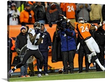 Ravens Broncos Football - Jacoby Jones, Rahim Moore