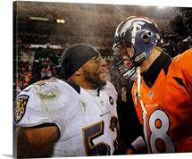 Ravens Broncos Football - Ray Lewis, Peyton Manning