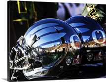 Reflections of a 2012 Rose Bowl Helmet