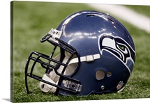 Seahawks Helmet Sits on the Field