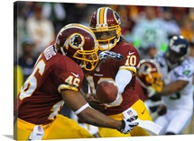 Seahawks Redskins Football - Robert Griffin III, Alfred Morris