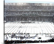 Snow Covered Lincoln Financial Field, Eagles play Lions in Philadelphia, 2013