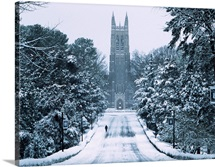 Snow Surrounds the Duke Chapel
