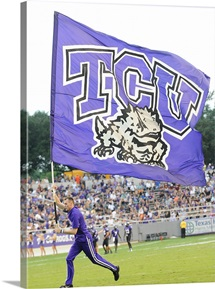 TCU Flag Flies on Game Day