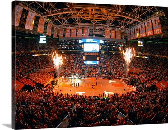Tennessee Basketball In Thompson Boling Arena Photo Canvas