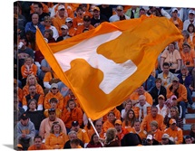 Tennessee Flag Flies on Game Day at Neyland Stadium