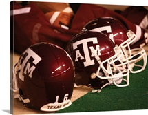 Texas A&M Football Helmets