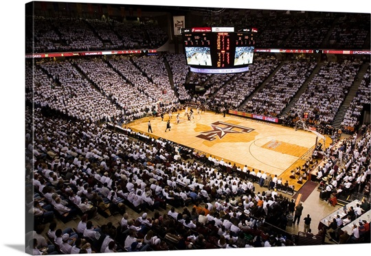 Texas A&amp;M Photographs Fans White it Out in Reed Arena