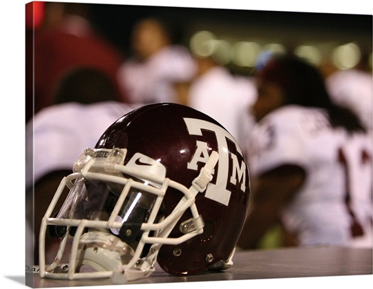 Texas A&M Photographs Texas A & M Football Helmet