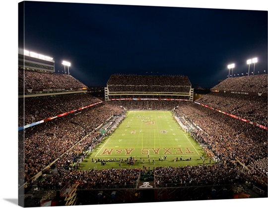 Texas A&M Pictures Lights on Kyle Field