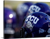 Texas Christian University Football Helmets