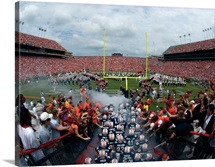The Auburn Tigers Take the Field at Jordan Hare Stadium