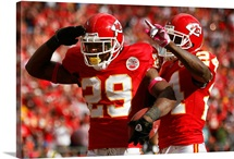 The Chiefs Eric Berry and Brandon Flowers