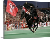 The Masked Rider Takes the Field for Texas Tech