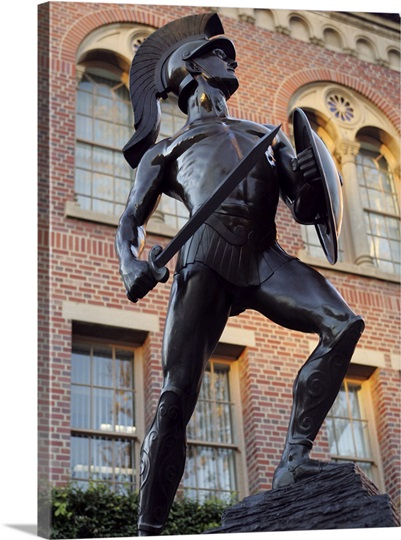 Tommy Trojan Statue On The Campus Of Usc Photo Canvas