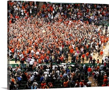 University of Miami: Hurricane Fans Rush the Court at the Bank United Center