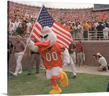 University of Miami Photographs Sebastian with the American Flag