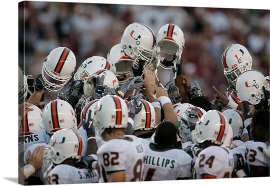 University of Miami Pictures Miami Helmets in the Air