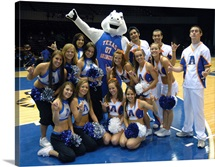 UT Arlington Pictures Blaze, Cheerleaders and Dance Team
