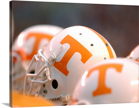 UT Pictures Tennessee Football Helmets Lined Up