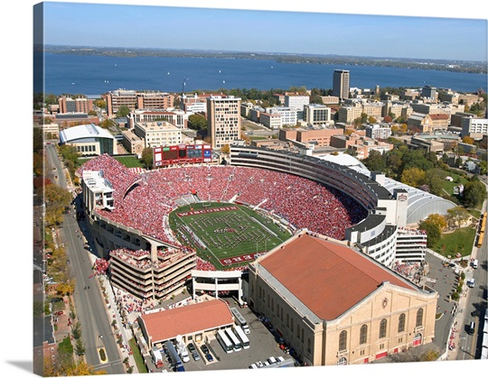 UW Photograph Aerial of Camp Randall