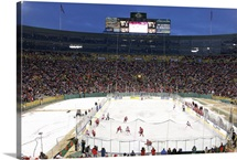 UW Photograph Hockey At Lambeau Field