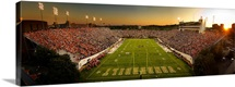 Vanderbilt Photographs Sun Setting on Vanderbilt Stadium