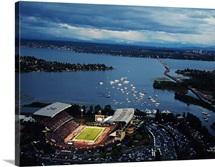 Washington: Aerial View of Husky Stadium
