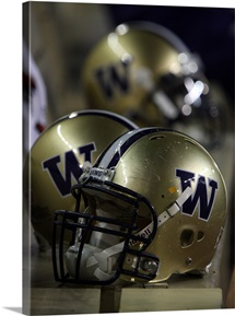 Washington Football Helmets at Husky Stadium