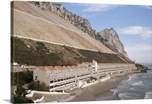 Apartments below water catchment slopes, Sandy Bay, Gibraltar, Mediterranean