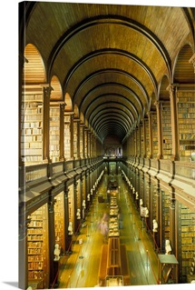 Gallery of the Old Library, Trinity College, Dublin, County Dublin, Ireland