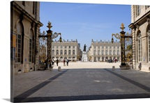 Gilded wrought iron gates by Jean Lamor, Place Stanislas, Nancy, Lorraine, France