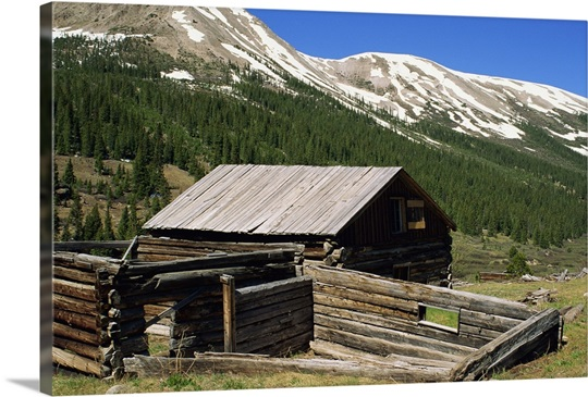 Log Cabin At Independence Town Site With Sawatch