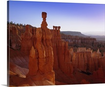 Rock Hoodoos, Thor's Hammer in Bryce Amphitheatre, Bryce Canyon National Park, Utah