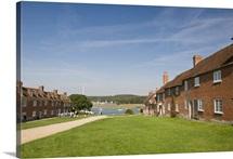 Shipwrights' cottages at Buckler's Hard, Hampshire, England, UK