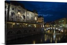 Tromstovje Triple bridge, River Ljubljanica, Ljubljana, Slovenia