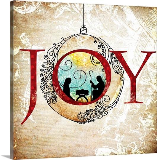 Christmas Joy Photo Canvas Print Great Big Canvas