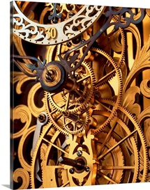 Internal gears within a clock