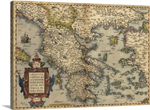 Ortelius's map of Greece, 1570