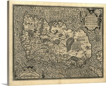 Ortelius's map of Ireland, 1598
