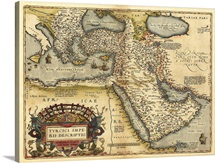Ortelius's map of Ottoman Empire, 1570