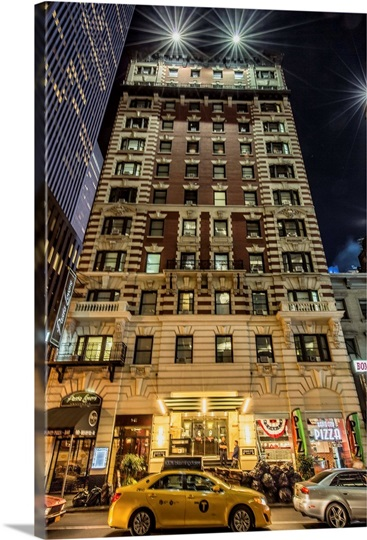 Apartment Building Near Times Square In New York City Photo Canvas Print Gr