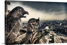 Atop the Notre Dame Cathedral, Paris