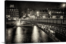 Bridge at night, Paris, France